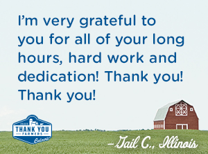 I'm very grateful to you for all of your long hours, hard work, and dedication! Thank you! Thank you! Gail C., Illinois