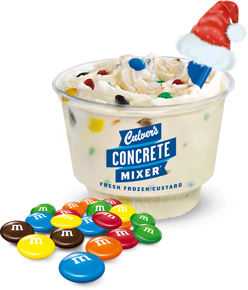 Culver's Concret Mixer made with M&M's and Fresh Frozen Custard