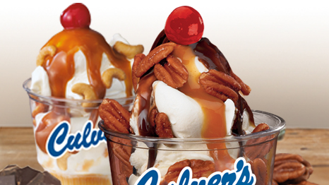 Culver&#39;s Caramel Cashew and Turtle Sundaes