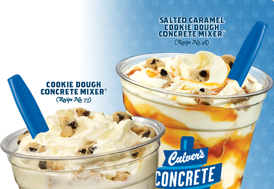 Cookie Dough Concrete Mixer® and Salted Caramel Cookie Dough Concrete Mixer®