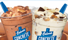 Culver's Desserts made with Reese's