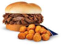 Culver's Beef Pot Roast Sandwich and Wisconsin Cheese Curds