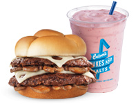 Culver's Mushroom and Swiss ButterBurger and Concrete Mixer