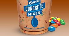 Chocolate Concrete Mixer® with M&M®